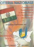 V1-Locandina Lotteria, Sport Universiade Sicilia 1977-Campionato Sbandieratori Reggio Emilia - Paperboard Signs