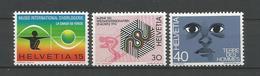 Switzerland 1973 Events Y.T. 930/932 ** - Neufs