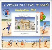 FFAP N° 16 De 2019 - Bloc Dentelé Autoadhésif - La Passion Du Timbre - Montpellier - FFAP