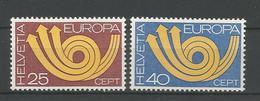 Switzerland 1973 Europa Y.T. 924/925 ** - Neufs