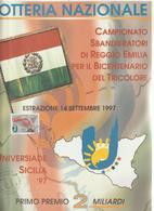 V2-Locandina Lotteria, Sport Universiade Sicilia 1977-Campionato Sbandieratori Reggio Emilia-Ann.Speciale Universiade - Paperboard Signs