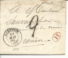 LAC 74 Barentin T13  TTFM 2 1 Décime Rouge Boite Rurale A Fréville - 1801-1848: Voorlopers XIX