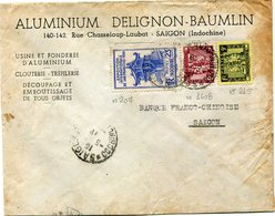 INDOCHINE LETTRE DEPART SAIGON 5-?-? COCHINCHINE POUR L'INDOCHINE - Indochine (1889-1945)
