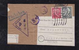 BRD Bund 1954 PÄCKCHEN Ausschnitt HAMBURG To ZEITZ DDR - Briefe U. Dokumente