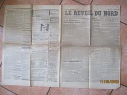 LE REVEIL DU NORD DU 1er JUIN 1919 VERS LA GREVE GENERALE DES MINEURS, L'ECOLE DES ARTS ET METIERS DE LILLE,LA VIE OUVRI - Journaux - Quotidiens