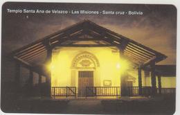 BOLIVIA - Urmet, Temple Santa Ana De Velasco, 20 Bs., Tirage 751,500, Mint - Bolivien