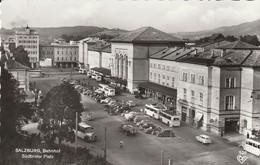 Postauto; Autobus; Trolleybus; Salzburg, Bahnhof, Südtiroler Platz - Salzburg Stadt