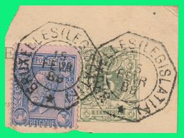 """COB N°45+48/Fragment - Belles Oblitérations Télégraphe  """"BRUXELLES (LEGISLATIF)"""" - Belgique"""