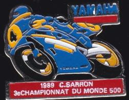 64944- Pin's.Moto Yamaha.1989.C.Carron. - Motorfietsen