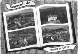 72 CPA VERNEUIL LE CHETIF 4 VUES EGLISE CHATEAU - France