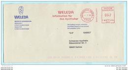 BUND BRD - AFS Freistempel Brief Meter Cover - 0047 - ...07.2000 Schwäbisch Gmünd - Weleda Heilmittel  (32322) - Machine Stamps (ATM)