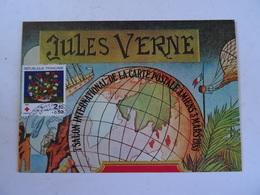 CPM 80 E Anniversaire De La Mort De JULES VERNE 24 Mars 1905 T.B.E. Salon International De La Carte Postal Amiens 1985 - Amiens