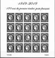 France 2019 - Yv N° F5305 - Bloc Ceres  -  170 Ans Du Premier Timbre-poste Français - Salon Philatélique Du Printemps - France