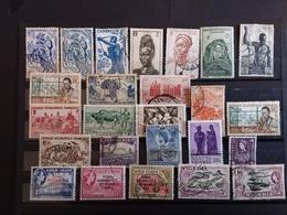 Lot De 50 Timbres Anciennes Colonies Avant Indépendance Française Anglaise Espagnole - Timbres