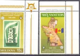 2005.Moldova, 50y Of First Europa Issue, 2v, Mint/** - Moldavie
