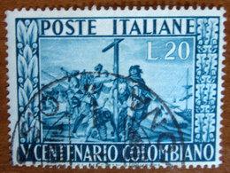 1951 ITALIA Cristoforo Colombo V Centenario Colombiano - Lire 20 Usato - 6. 1946-.. Repubblica