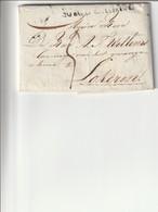 Niet Gefrankeerde Vouwbrief Met Inhoud Van 's Gravenhage Naar Lokeren , 1818 . - Holanda