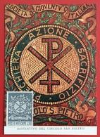VATICANO VATIKAN VATICAN MAXIMUM-CARD CIRCOLO SAN PIETRO 1969 PREGHIERA AZIONE SACRIFIZIO SAN PETER - Covers & Documents