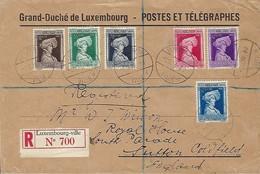 Luxembourg  - Lettre Recommandé - 1.12.1936 - Timbres - Caritas - Grand-Duché De Luxembourg - Postes Et Télégraphes - Luxembourg