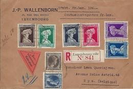 Luxembourg  - Lettre Recommandé - 2.6.1936 - J.P.WALLENBORN , 21 , Rue Des Roses , LUXEMBOURG - Luxembourg