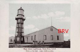 Repro: Photo: Porto Rico, Puerto Rico, Mora Island, Lighthouse, Photo Of Old Postcard, 2 Scans - Orte