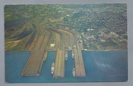 US.- NORFOLK, VIRGINIA. AIR VIEW OF GENERAL CARGO PIERS, LAMBERTS POINT - Norfolk