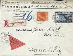 Luxembourg  - Lettre Recommandé - 6.7.1935 - Office Central De Prévoyance Sociale , Luxembg - Luxembourg