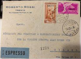 T061) TRIESTE AMG-FTT FRONTESPIZIO DI LETTERA ESPRESSO - 7. Triest