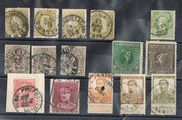 Lotje Oude Gestempelde Postzegels - 1893-1907 Coat Of Arms