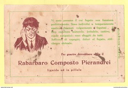 Carte Assorbenti Rabarbaro Pierandrei Carta Sugante Anni 40 O 50 - Papel Secante