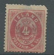 200035142  ISLANDIA  YVERT  Nº  3A  WIRH  PEELING.  SEE PICTURE - Oblitérés