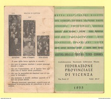 Calendario Vicenza Confederazione Coltivatori 1955 Calendarietto - Calendriers