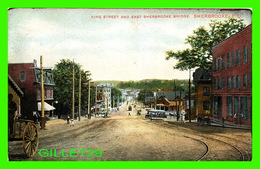 SHERBROOKE, QUÉBEC - KING STREET AND EAST SHERBROOKE BRIDGE - ANIMATED - TRAVEL IN 1907 - MONTREAL IMPORT CO - - Sherbrooke