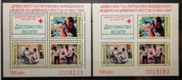 Macédoine 1993 / Yvert BF De Bienfaisance N°3 + Non Dentelé / ** - Mazedonien