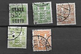 1934 USED Danmark, Gebyr - Segnatasse