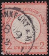 Deutsches Reich    .    Michel   .  8  (2 Scans)    .      O      .       Gebraucht  .   /   .  Cancelled - Allemagne