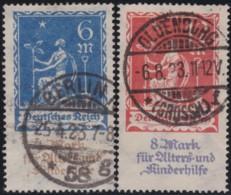 Deutsches Reich    .    Michel   .    233/234    .      O      .       Gebraucht  .   /   .  Cancelled - Allemagne