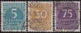 Deutsches Reich  .  Michel .   274/276  (274 Und 276  Signiert)   .      O    .     Gebraucht  .   /   .  Cancelled - Allemagne