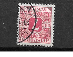 1907 USED Danmark,  Avisporto (newspapers), Watermark Crown, Inverted - Segnatasse