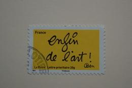 FRANCE 2011   YTN°615     SOURIRES PAR L'HUMORISTE  BEN    Cachet  ROND    ( A Voyagé) - France