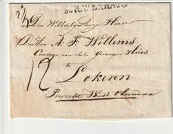 Niet Gefrankeerde Vouwbrief Met Inhoud Van 's Gravenhage Naar Lokeren (België) , 1829 . - Pays-Bas