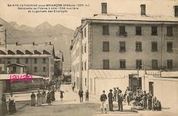 Photo, Sainte Catherine Sous Briançon, Batiment De L'usine A Soie, Photo D'une Ancienne Carte Postale, 2 Scans - Sport