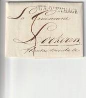 Niet Gefrankeerde Vouwbrief Met Inhoud Van 's Gravenhage Naar Lokeren (België) , 1821 . - Holanda