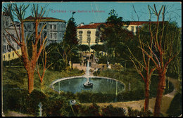 CATANIA - VILLA BELLINI E FONTANA (PIEGA) 1917 - Catania