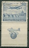 Tschechoslowakei 1946 Flugpostmarke 500 Zf Gestempelt - Tschechoslowakei/CSSR