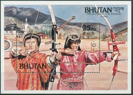 Bhutan 1984 Olympiade Los Angeles: Bogenschießen Block 112 C Postfrisch (C30089) - Bhoutan