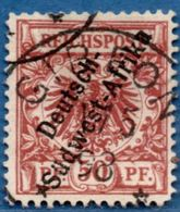 Deutsch Ämter Sudwest-Afrika On 50 Pf, 1897, Full Cancel Gibeon 1/5 '98 2005.0337 German Offices, - Colony: German South West Africa
