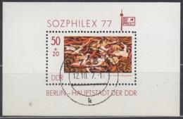 DDR Block 48, Gestempelt, SOZPHILEX 1977 - [6] Repubblica Democratica