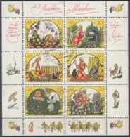 DDR  2914-2919, Kleinbogen, Gestempelt, Märchen Von Der Toten Zarentochter Und Den 7 Recken, 1984 - DDR