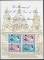 ISLE OF MAN, Block 5, Postfrisch **, Hochzeit Von Prinz Charles Und Diana Spencer, 1981 - Man (Insel)
